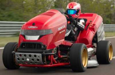 A raging superbike at heart, the Mean Mower V2 is now officially the fastest accelerating lawnmower in history.