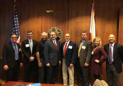 AAAS members met with Jimmy Patronis, Chief Financial Officer of the State of Florida, during the group's annual Capitol Days.