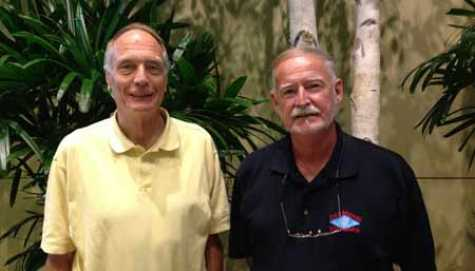 George W. Neat (Left) and Geoff Crane (Right), former Director of Industry Relations for Diamond Standard Parts, LLC.