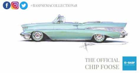Chip Foose 1957 Chevy Bel Air Convertible – by SEMA Hall of Famer Chip Foose of Foose Designs, painted in a custom Foose Glasurit 90 Line color.