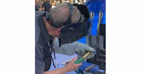 Steve Marks from I-CAR demonstrated MIG brazing during the SEMA Show.
