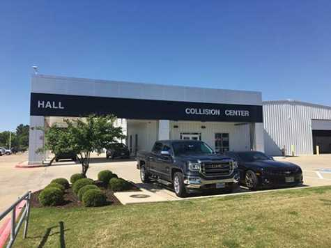 The collision center at Hall Buick GMC in Tyler, TX, services all makes and models.