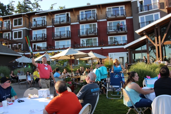The BBQ on June 24 provided networking opportunities and a lot of fun for ASA retreat attendees.