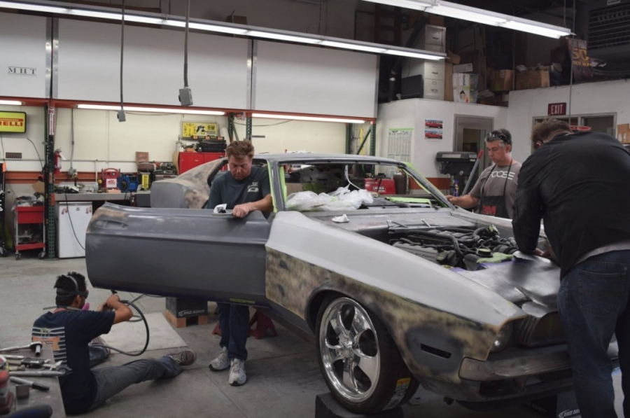 Chip Foose Preps 71 Mach Ford Mustang Custom Car For Sema 2017 Basf Booth