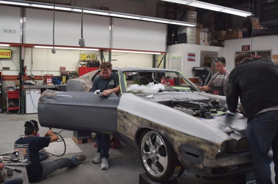 Super Chip Foose Preps '71 'Mach Foose' Ford Mustang Custom Car for SEMA  OX26