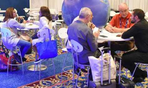 An International Buyer Center at AAPEX provides meeting rooms, translation services and shows staff to answer questions from delegates.