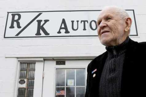 Ron Koeller poses for a photo outside his business at R/K Autobody in Crystal Lake, IL. The auto body shop, owned by Koeller, is preparing for its 40th anniversary on Feb. 2.
