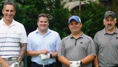 The first place team winners at the 15th Annual Lous Scoras Memorial Golf Outing (pictured left to right) were Mike Padula, Darryl Hoffman, John Carter and Rod Cameron. Cameron.