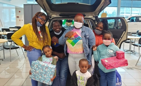 Norfolk resident Deanna Bell, a single mom of five kids, received a refurbished car courtesy of Hendrick Collision Center in Norfolk and a partnership among GEICO, Enterprise Rent-A-Car and United Way of South Hampton Roads.
