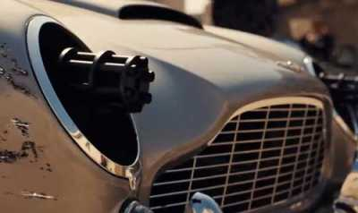 "On the Lighter Side: James Bond's Aston Martin DB5 Has New Weaponry in Upcoming ""No Time to Die"" Film"