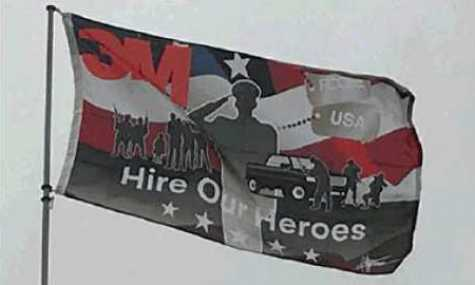 3M Hire Our Heroes flag designed by Chip Foose.