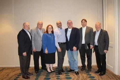 (L to R) Fred Iantorno, CIECA's executive director; Steve Betley, chairman; Kim DeVallance Caron, vice chair; Michael Naoom, secretary; Clint Marlow, past chair; Jeff Schroder, treasurer; and Charley Quirt, CIECA's project manager