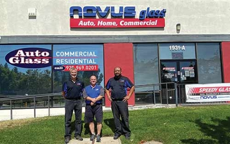 From left, Assistant Manager Ken Schauer, Owner Gary Neves and Technician Jason Abenoja at NOVUS acquired an Autel MaxiSYS MA600 to use at its two locations in Concord and Davis, CA.