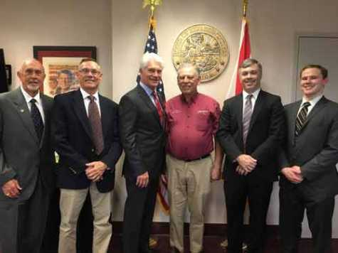 AAAS attended its 2020 Capitol Day in Florida on Feb. 18-19. Pictured, left to right: AAAS Florida Operations Director George Ehrhard, Don Foukle of Connie Liles Auto Parts, Florida Rep. Michael Grant (R-71), Tom Carella of Furrin Auto Parts, AAAS Director of Government Relations Matt Ward and LKQ's Rudy Rosenmayer.