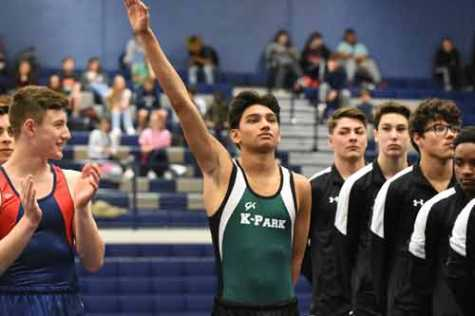 In addition to being a dedicated auto body student, Ashtin Nandlal is the only competitor on the Kingwood Park High School gymnastics team, which he started his sophomore year.