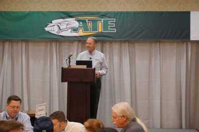 "Chris Chesney presented ""To ADAS or Not to ADAS, That is the Question"" during lunch on Saturday."